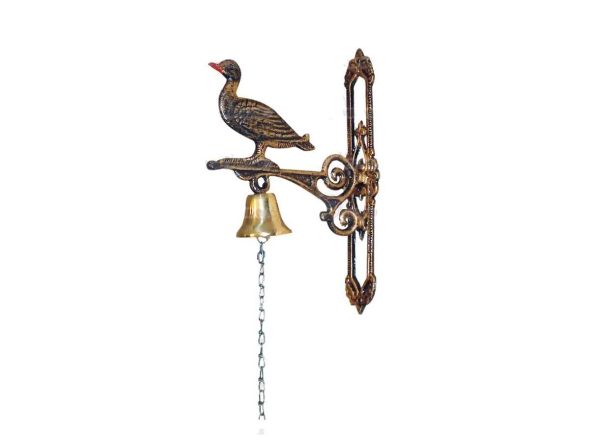 Sineta (sino) de Bronze de Parede Modelo Rolinha de Alumínio