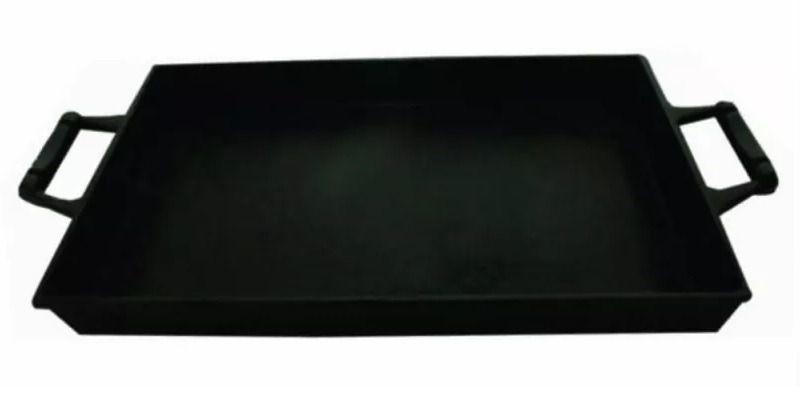 Tabuleiro Ferro Fundido 2 Alças De Ferro 27,5x37cm