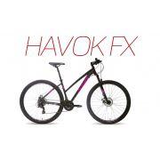 Bicicleta Audax HAVOK FX Preta rosa e branca tamanho 17 / 29