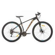 Bicicleta Audax HAVOK SX Preta Azul e laranja