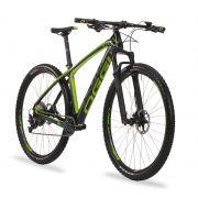 Bicicleta Oggi Agile Pro preta e verde tamanho 19/29