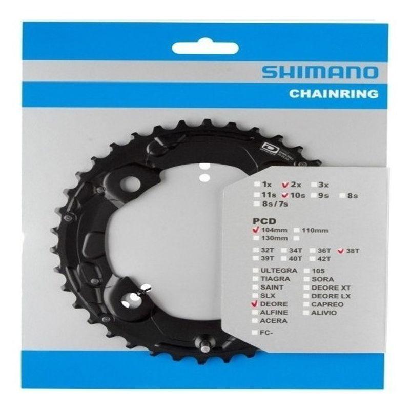Coroa SHIMANO DEORE M615 10 Velocidades 38-26