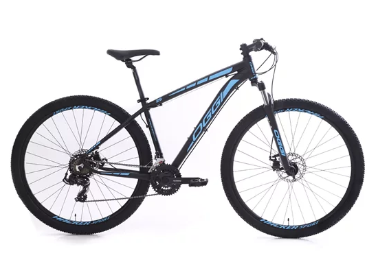 Bicicleta Oggi hacker sport preto e azul 17/29