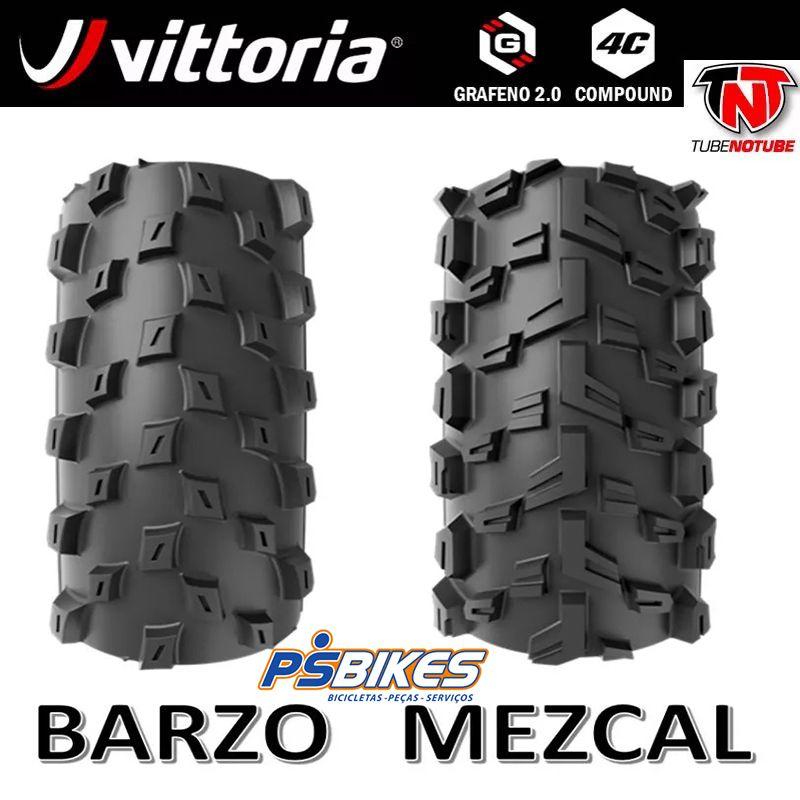 Vittoria - Mezcal + Barzo dobrável Grafeno Tubeless Ready XC Trail TNT (o par)