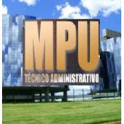 Apostila Concurso Técnico Administrativo do MPU | MPU (2018)