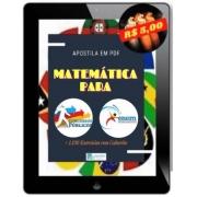 Apostila de Matemática Para Concursos e ENEM | Teoria + Exercícios + Gabaritos