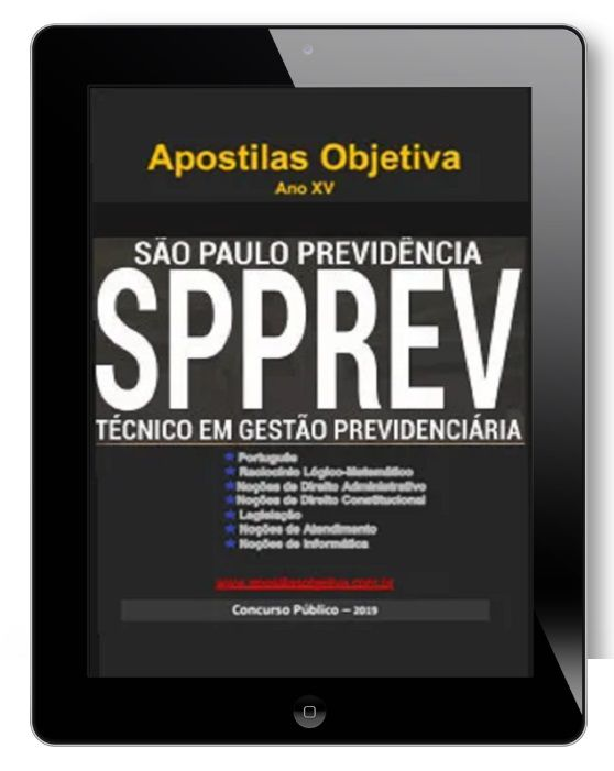 Apostila Concurso Técnico Gestão Previdenciária |Concurso São Paulo Previdência - SPPREV
