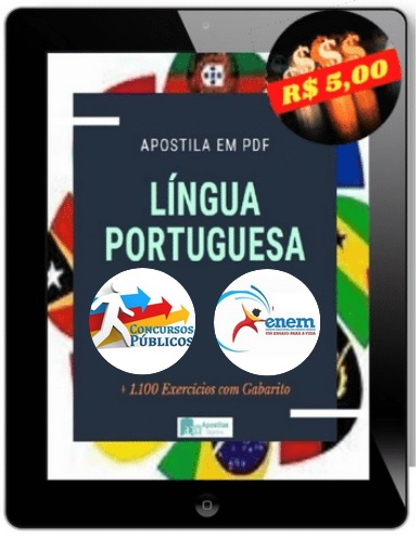 Apostila de Língua Portuguesa Para Concursos | 1.100 Exercícios + Gabaritos