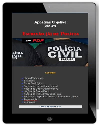 Apostila ESCRIVÃO DE POLÍCIA PC-PB   POLÍCIA CIVIL PB - 2021
