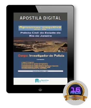 Apostila INVESTIGADOR PC-RJ | POLÍCIA CIVIL 2021