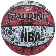 BOLA BASQUETE NBA SPALDING GRAFFITI TAM. 7 - VERMELHO E BRANCO