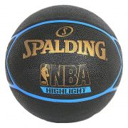 BOLA BASQUETE NBA SPALDING HIGHLIGHT TAM. 7 - PRETO E AZUL