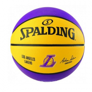BOLA DE BASQUETE SPALDING NBA LOS ANGELES LAKERS - AMARELO E ROXO