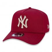 BONÉ NEW ERA 9FORTY A-FRAME MLB NEW YORK YANKEES - VINHO E DOURADO