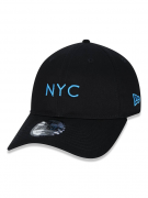 BONÉ NEW ERA 9TWENTY SIMPLE SIGNATURE FLUOR NYC NEW YORK CITY -  AZUL FLUOR