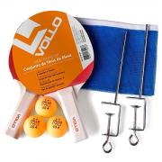 Kit De Tênis De Mesa da Vollo - ( 2 Raquetes 3 Bolas 1 Rede c/suporte )