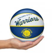 MINI BOLA DE BASQUETE WILSON NBA RETRÔ GOLDEN STATE WARRIORS - TAMANHO 3