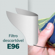 REFIL FILTRO MASCARA FIBER C/30