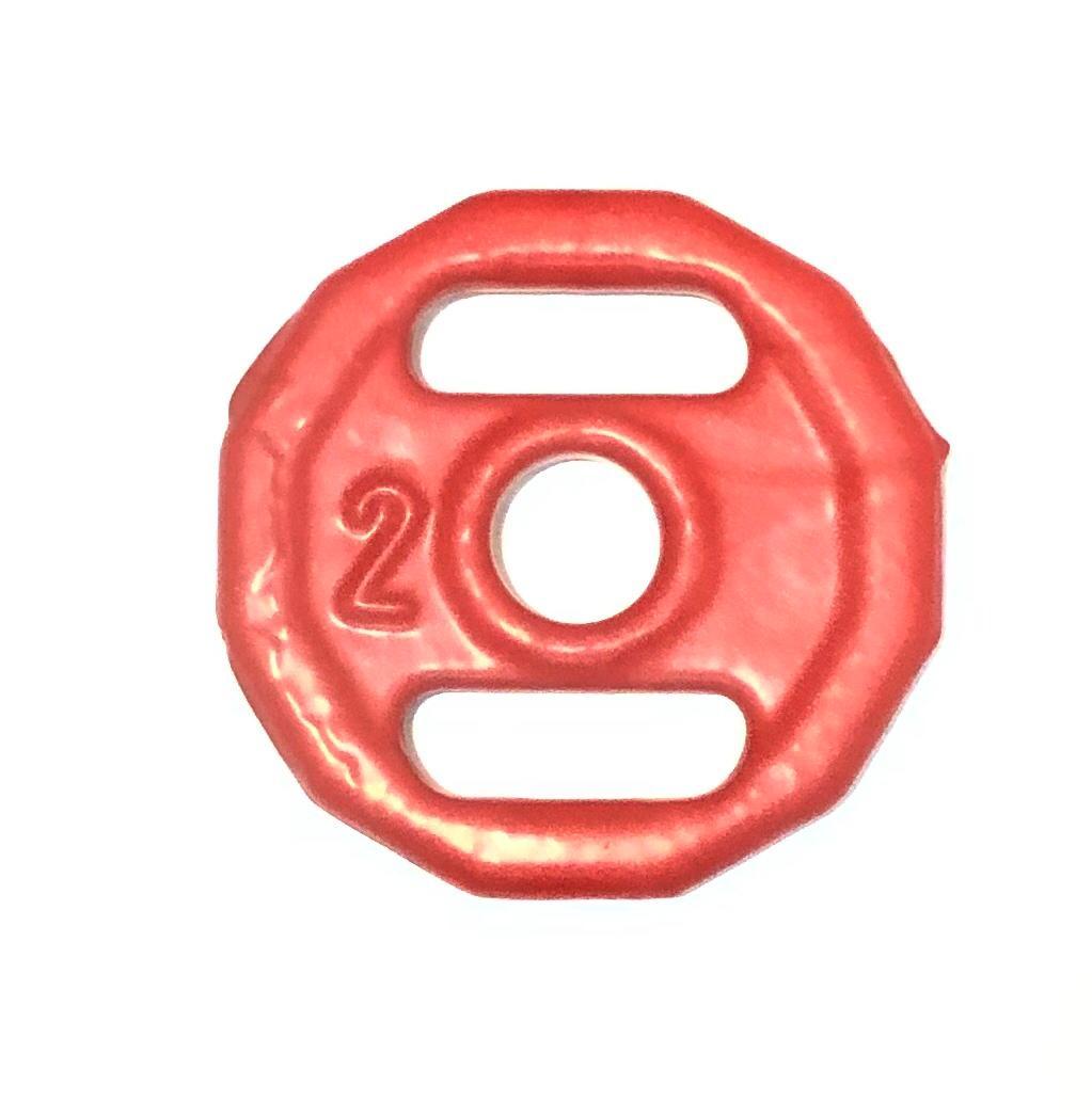 Anilha Revestida Sextavada 2kg Unidade