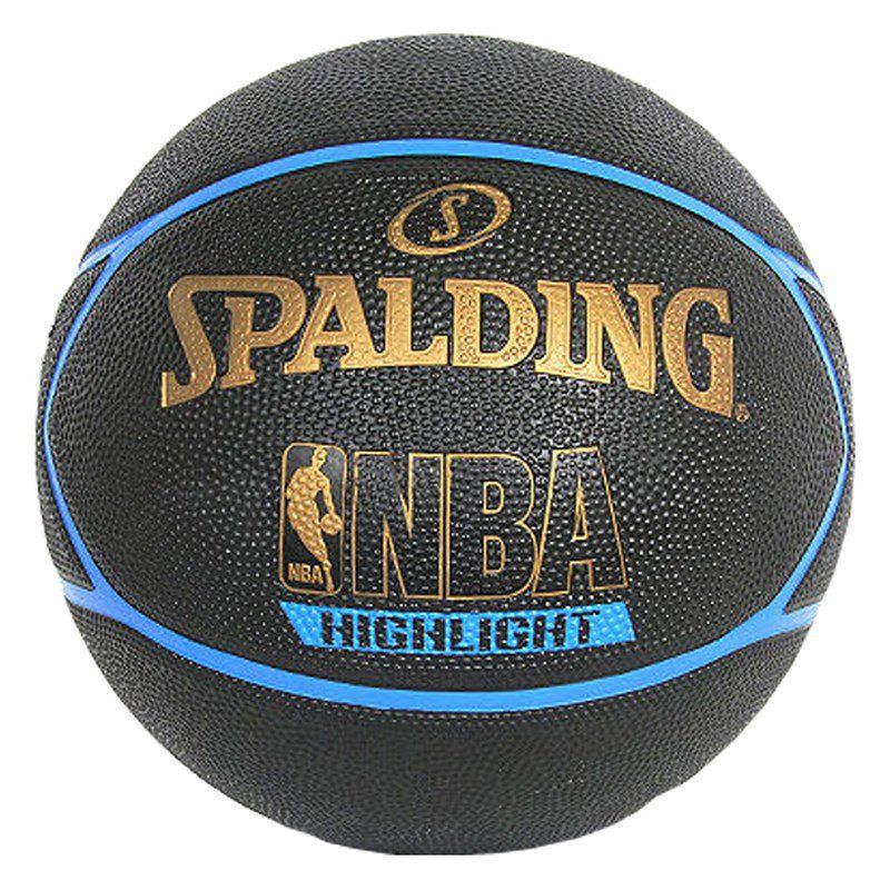 BOLA BASQUETE NBA SPALDING HIGHLIGHT TAM. 7 - PRETO E AZUL