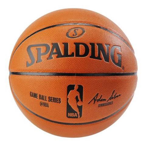 BOLA DE BASQUETE SPALDING NBA GAME BALL SERIES T. 7 - LARANJA
