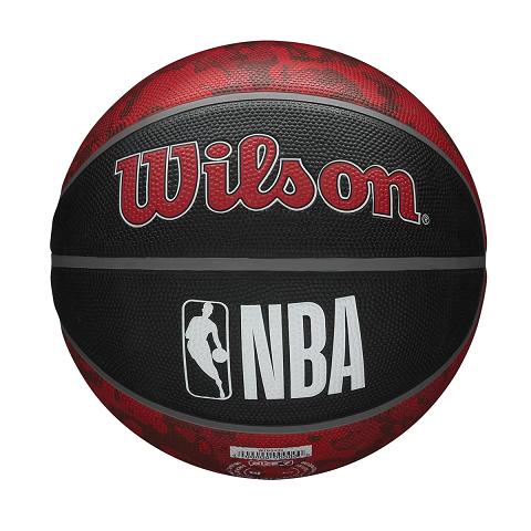 BOLA DE BASQUETE WILSON NBA TORONTO RAPTORS TEAM TIEDYE 7 - PRETO E VERMELHO