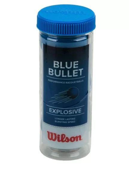 BOLA DE FRESCOBOL WILSON BLUE BULLET C/3 - AZUL