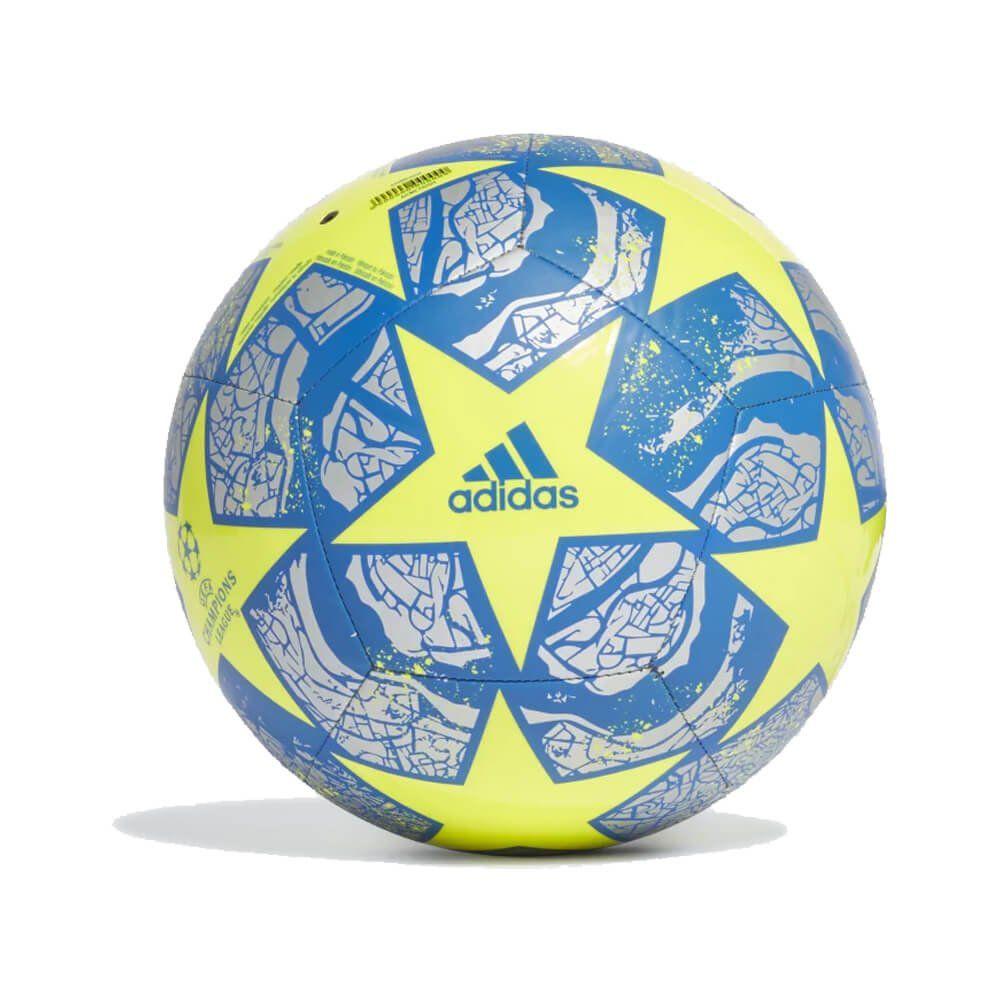 BOLA DE FUTEBOL CAMPO ADIDAS UEFA CHAMPIONS LEAGUE CLUB FINAL ISTANBUL 20 - AMARELO E PRATA