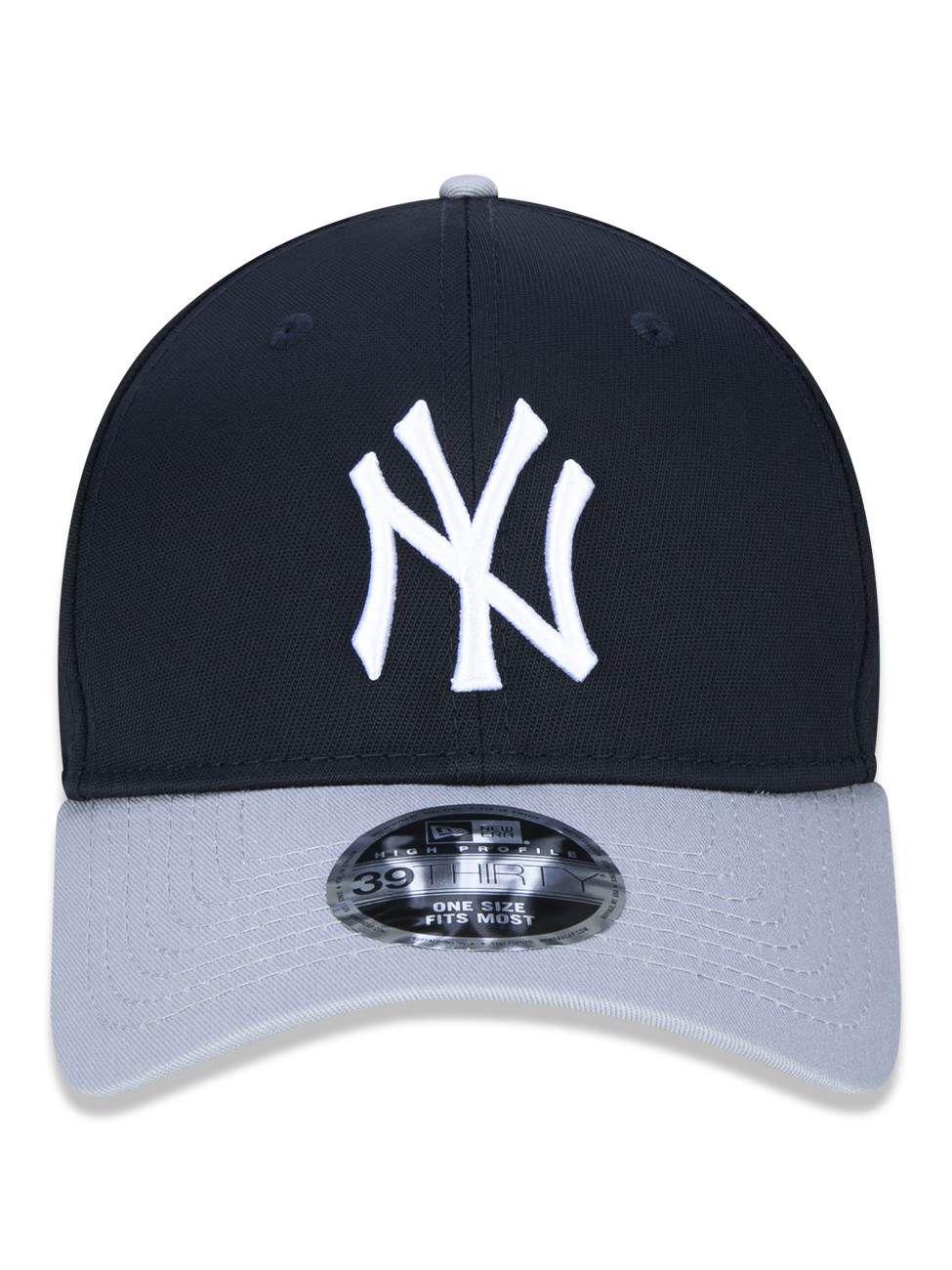 BONÉ 3930 HIGH CROWN MLB NEW YORK YANKEES - MARINHO E CINZA
