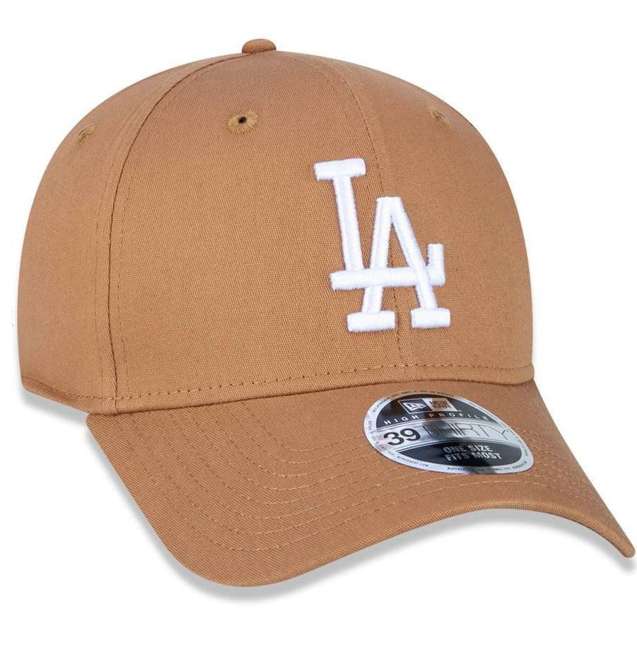 BONÉ NEW ERA  39THIRTY HIGH CROWN MLB LOS ANGELES DODGERS - BEGE
