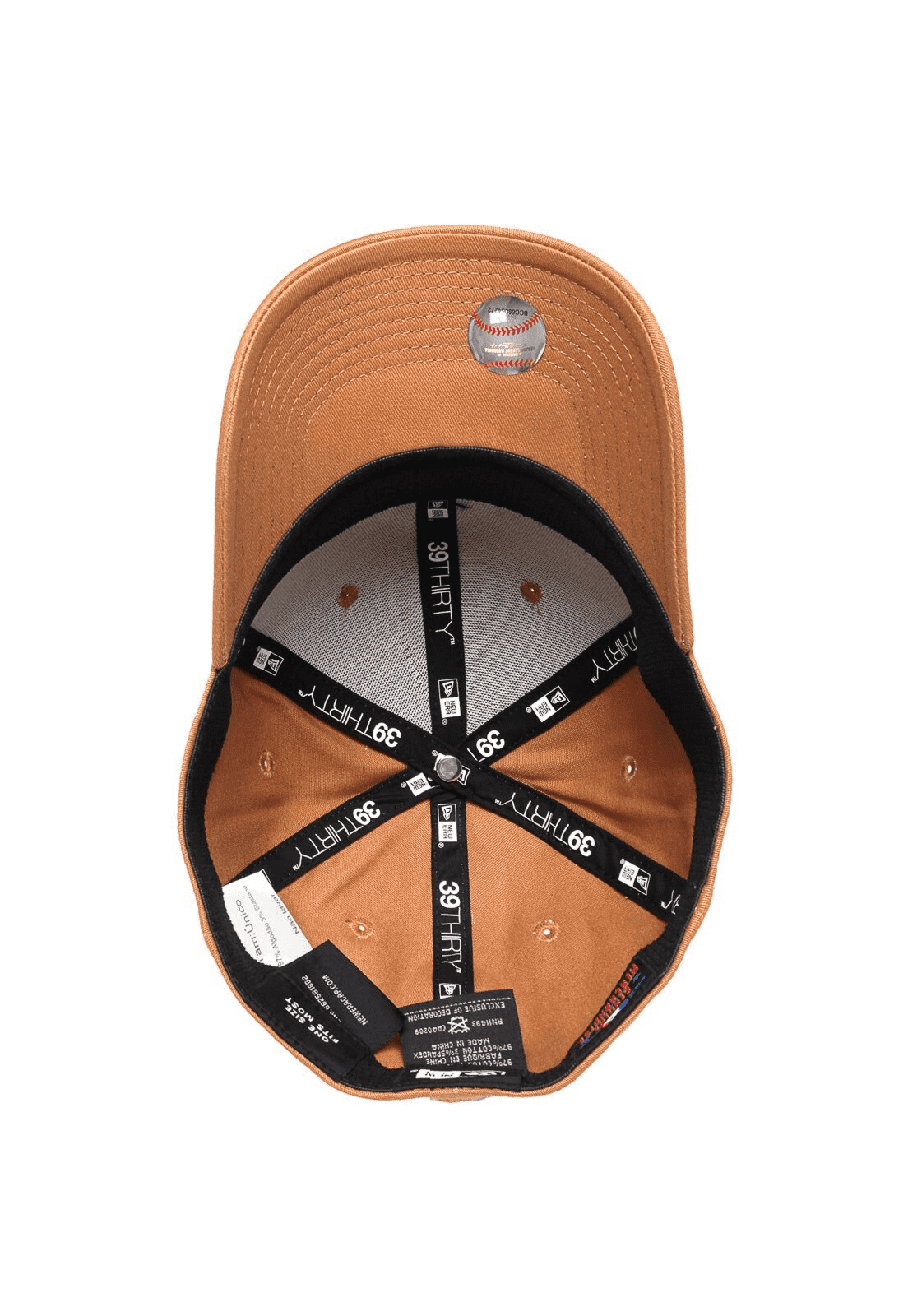 BONÉ NEW ERA 3930 ABA CURVA FECHADO MLB NEW YORK YANKEES - BEGE