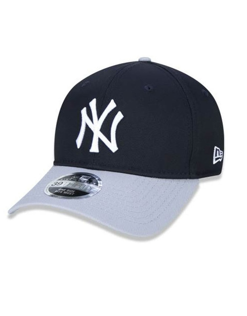 BONÉ NEW ERA 3930 HIGH CROWN MLB NEW YORK YANKEES - MARINHO E CINZA