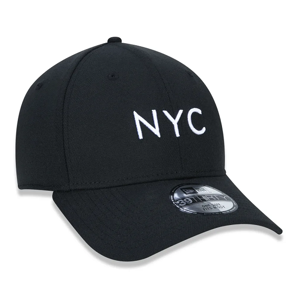 BONÉ NEW ERA 3930 SIMPLE SIGN NYC - PRETO E BRANCO