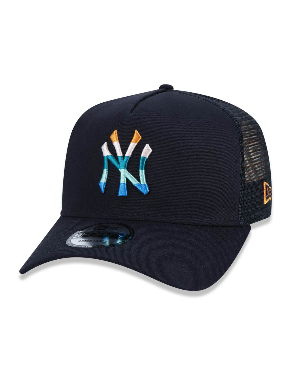 BONÉ NEW ERA  940 A-FRAME AJUSTÁVEL LOGO COLORS MLB NEW YORK YANKEES - MARINHO
