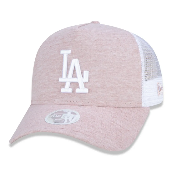 BONÉ NEW ERA 9FORTY A-FRAME TRUCKER MLB LOS ANGELES DODGERS JERSEY - ROSA