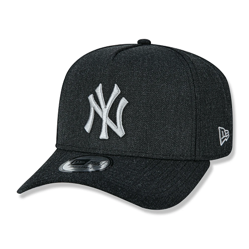 BONÉ NEW ERA 9FORTY A-FRAME HEATHER POP NEW YORK YANKEES MLB - PRETO E CINZA