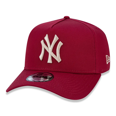 BONÉ NEW ERA 9FORTY A-FRAME MLB NEW YORK YANKEES - VINHO E DOURADO