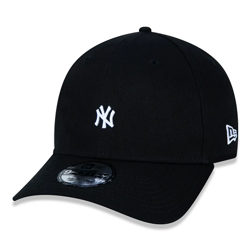 BONÉ NEW ERA  9FORTY MLB NEW YORK YANKEES MINI LOGO NY- PRETO