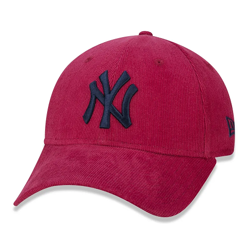 BONÉ NEW ERA 9FORTY MLB NEW YORK YANKEES PASTEL COTELÊ - VERMELHO