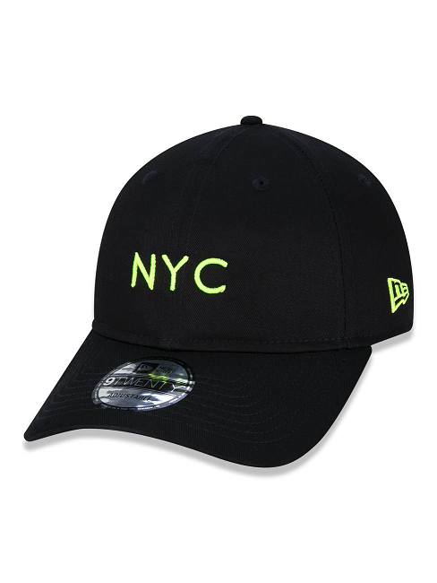 BONÉ NEW ERA 9TWENTY SIMPLE SIGNATURE FLUOR NYC NEW YORK CITY - AMARELO FLUOR