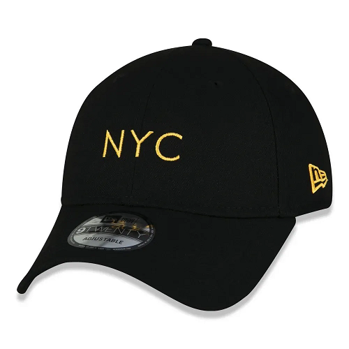 BONÉ NEW ERA 9TWENTY SIMPLE SIGNATURE FLUOR NYC NEW YORK CITY - LARANJA FLUOR