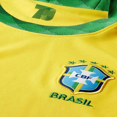 CAMISA NIKE BRASIL I 2020/21 TORCEDOR PRO INFANTIL - AMARELA