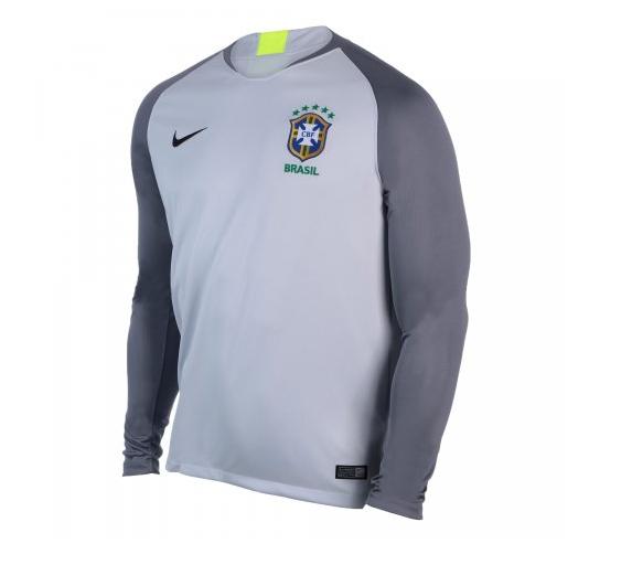CAMISA NIKE CBF BRASIL 18 - GOLEIRO STADIUM - CINZA