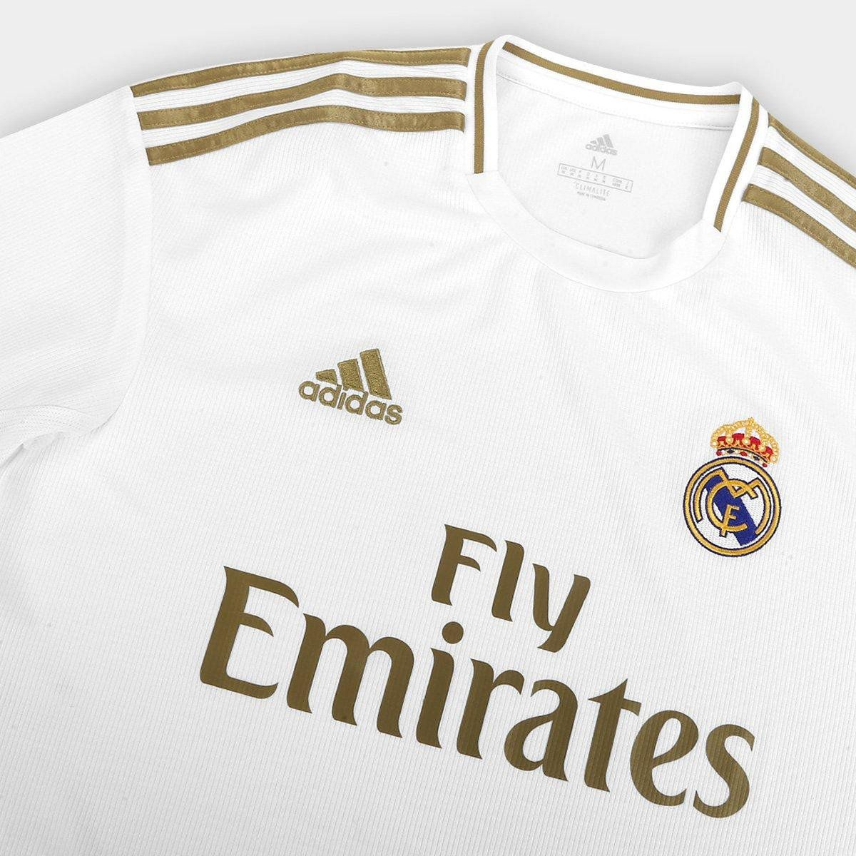 CAMISA REAL MADRID HOME 19/20 S/N° TORCEDOR ADIDAS MASCULINA - BRANCO