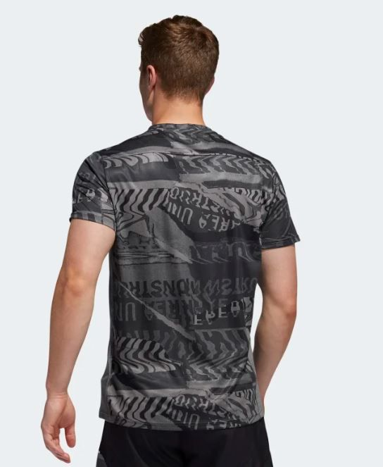 CAMISETA ADIDAS OWN THE RUN MASCULINO - CINZA