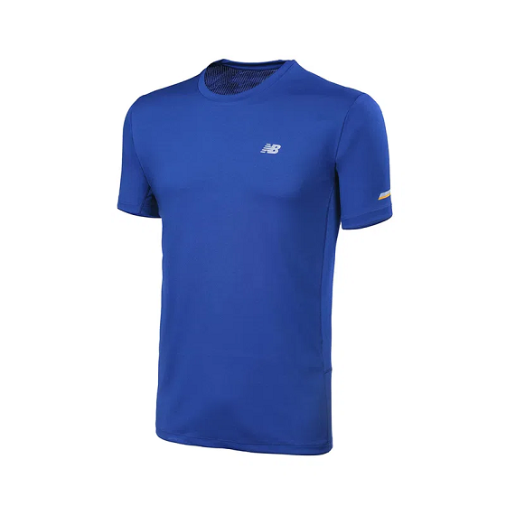 CAMISETA NEW BALANCE PERFORMANCE MASCULINO - AZUL