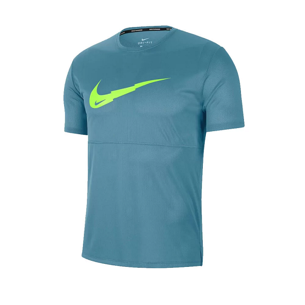 CAMISETA NIKE BREATHE RUN MASCULINO - VERDE E LIME