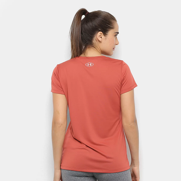 CAMISETA UNDER ARMOUR GRAPHIC TECH FEMININO - TELHA