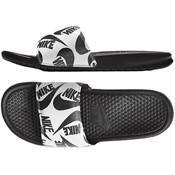 CHINELO NIKE BENASSI JUST DO IT - BRANCO E PRETO