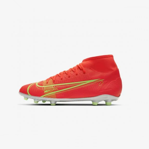 CHUTEIRA CAMPO NIKE MERCURIAL SUPERFLY 8 CLUB MG ADULTO - LARANJA E LIME